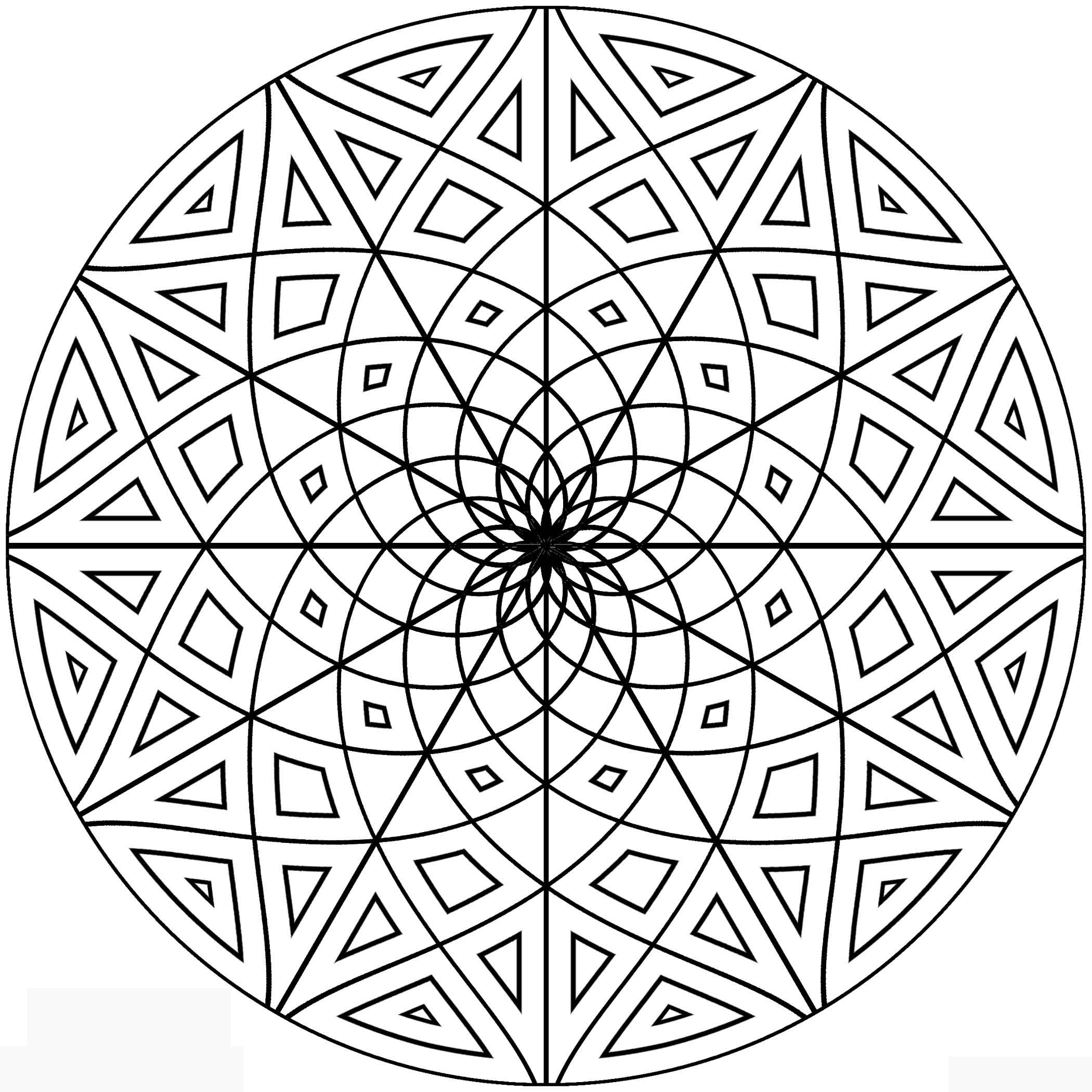 Coloring Pages To Print Designs : Free printable geometric coloring pages for adults