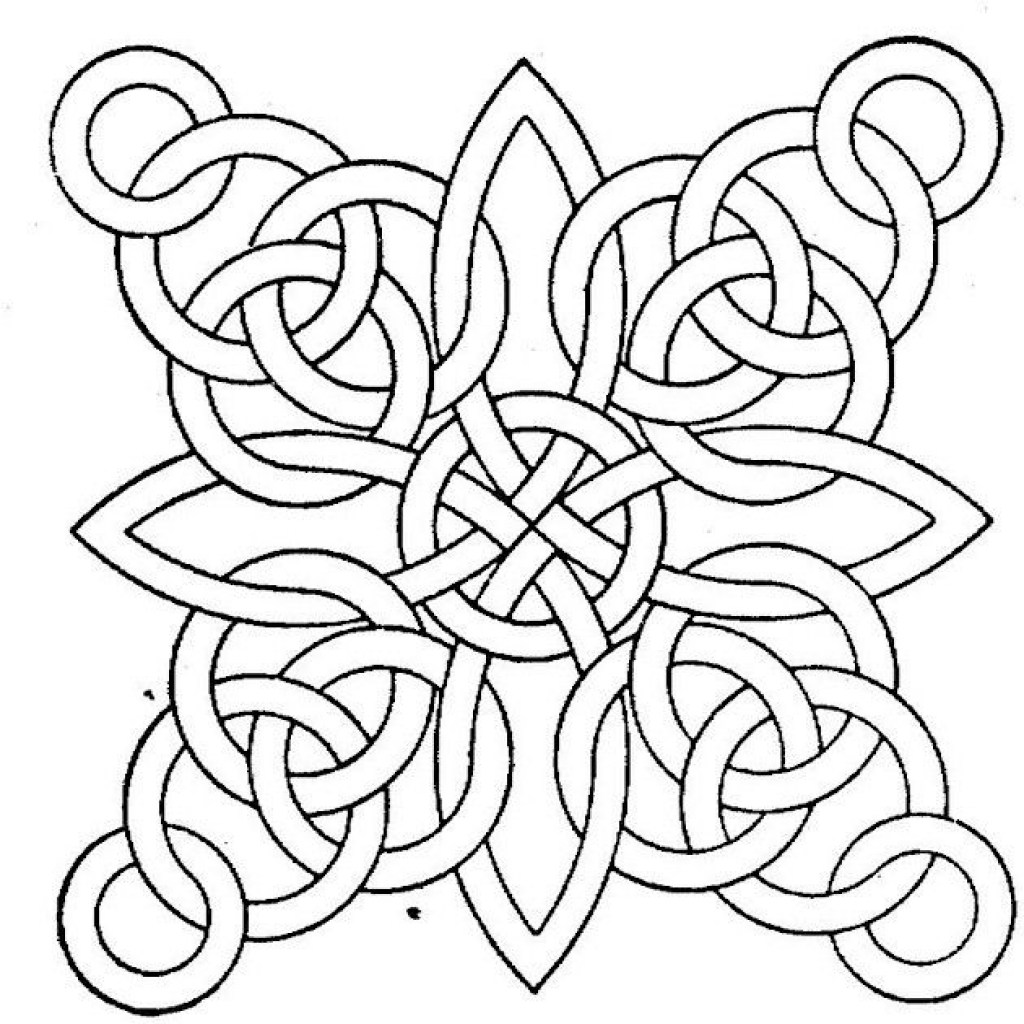 Free printable geometric coloring pages for adults for Coloring pages to print for adults