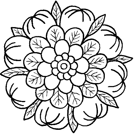 printable mandala coloring pages - Printable Abstract Coloring Pages