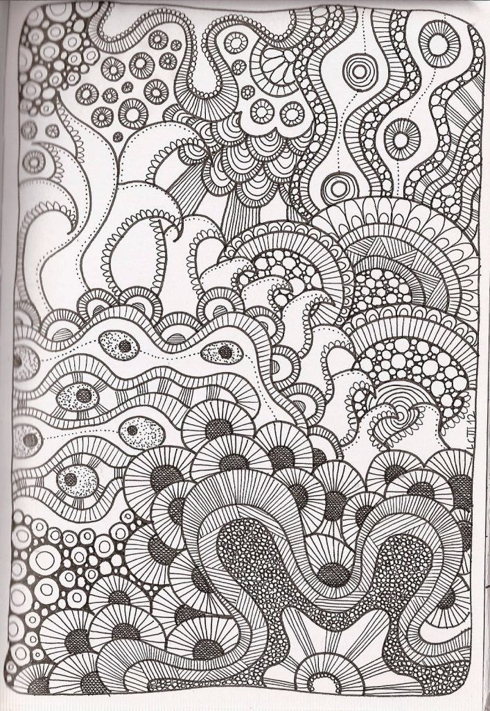 Rare image intended for printable zentangle patterns