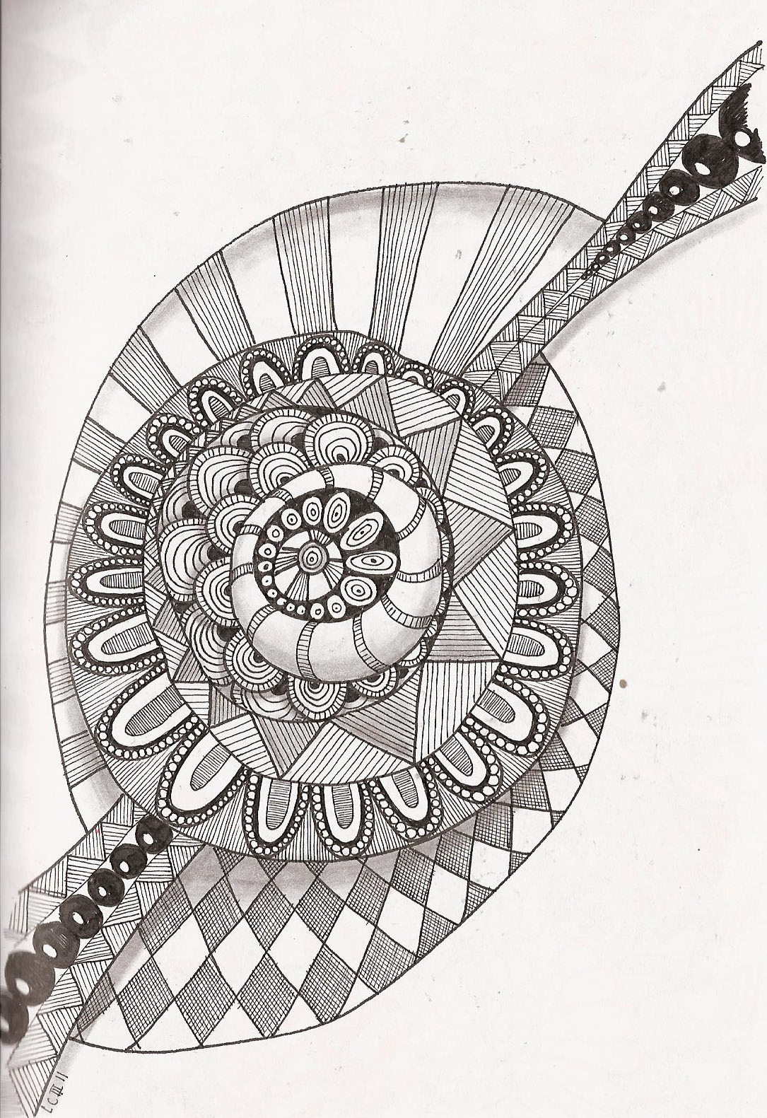 Free printable zentangle coloring pages for adults - Zentangle Coloring Pages Free