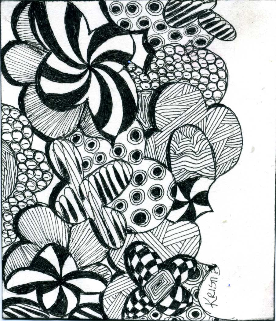 Printable coloring pages zentangle - Zentangle Colouring Pages
