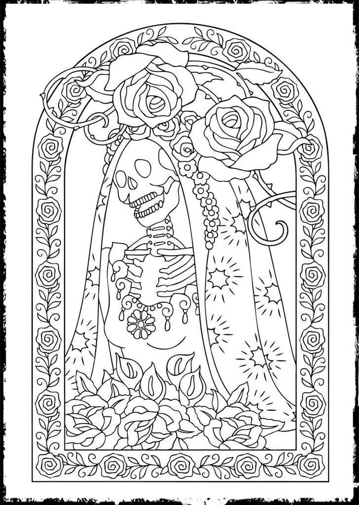 Free Printable Day of the Dead Coloring Pages - Best Coloring ...