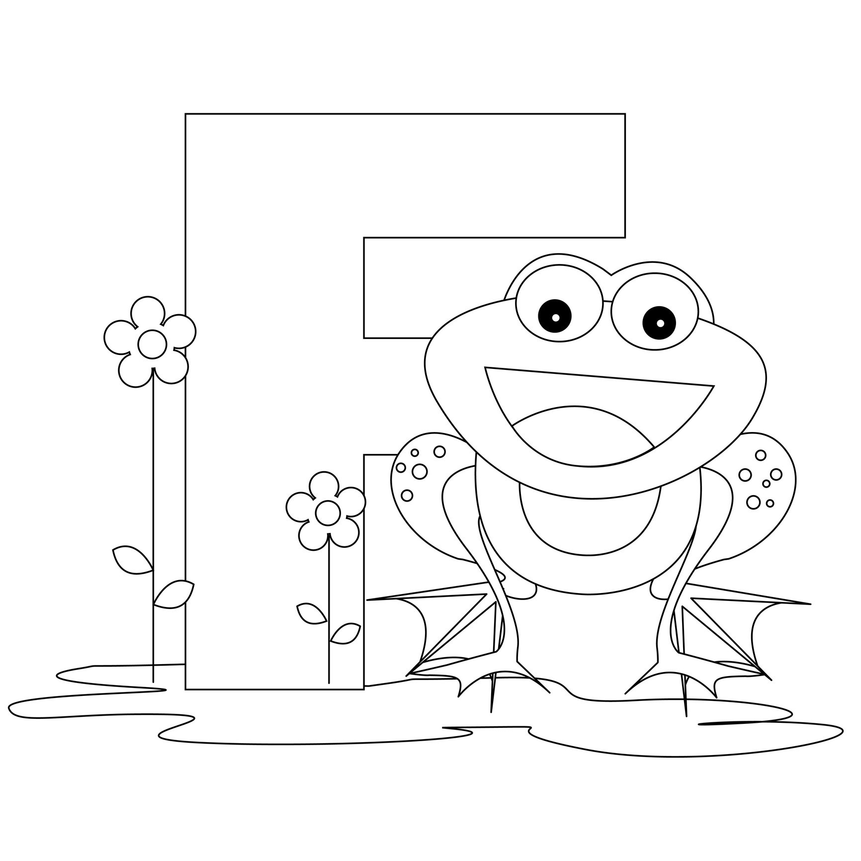 Coloring pages printable letter m - Alphabet Coloring Pages Letter F
