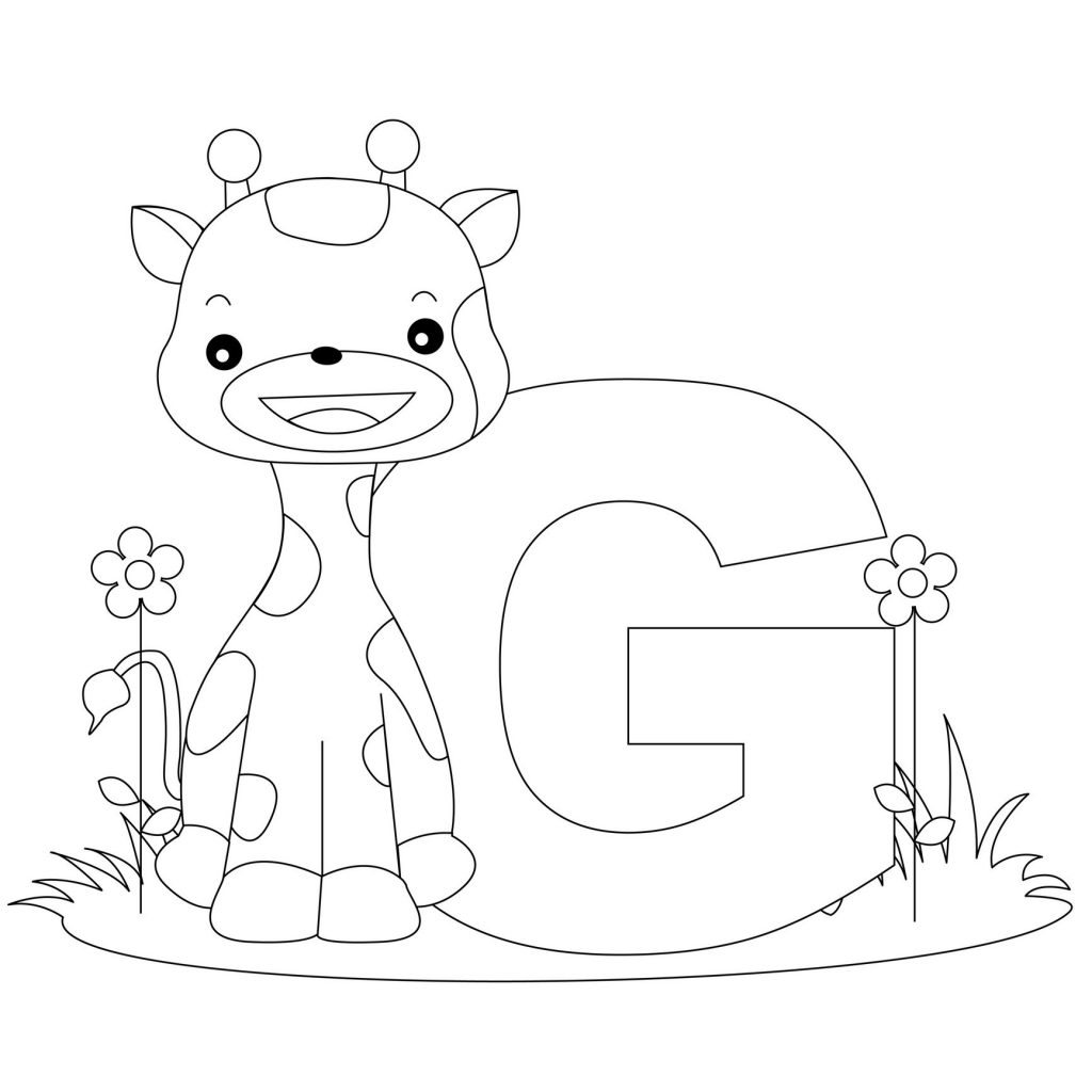 Free Printable Letter G Coloring Pages Alphabet