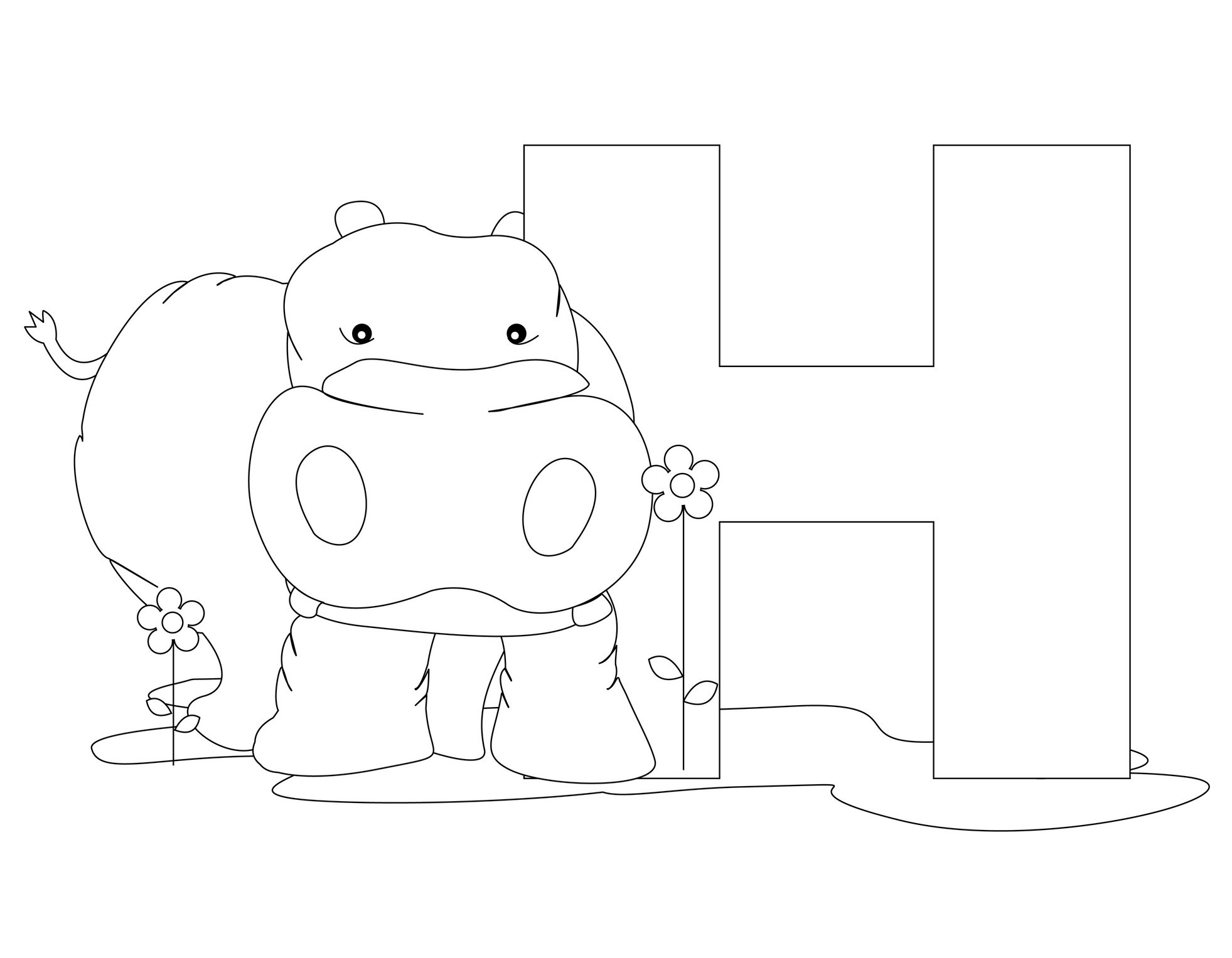 h coloring pages - photo#22