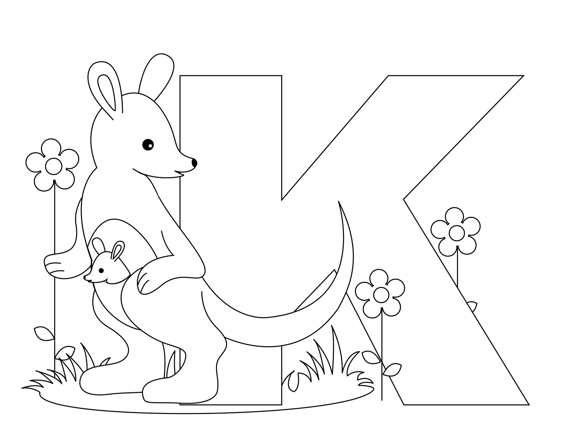 Letter o coloring pages - Alphabet Coloring Pages Letter K