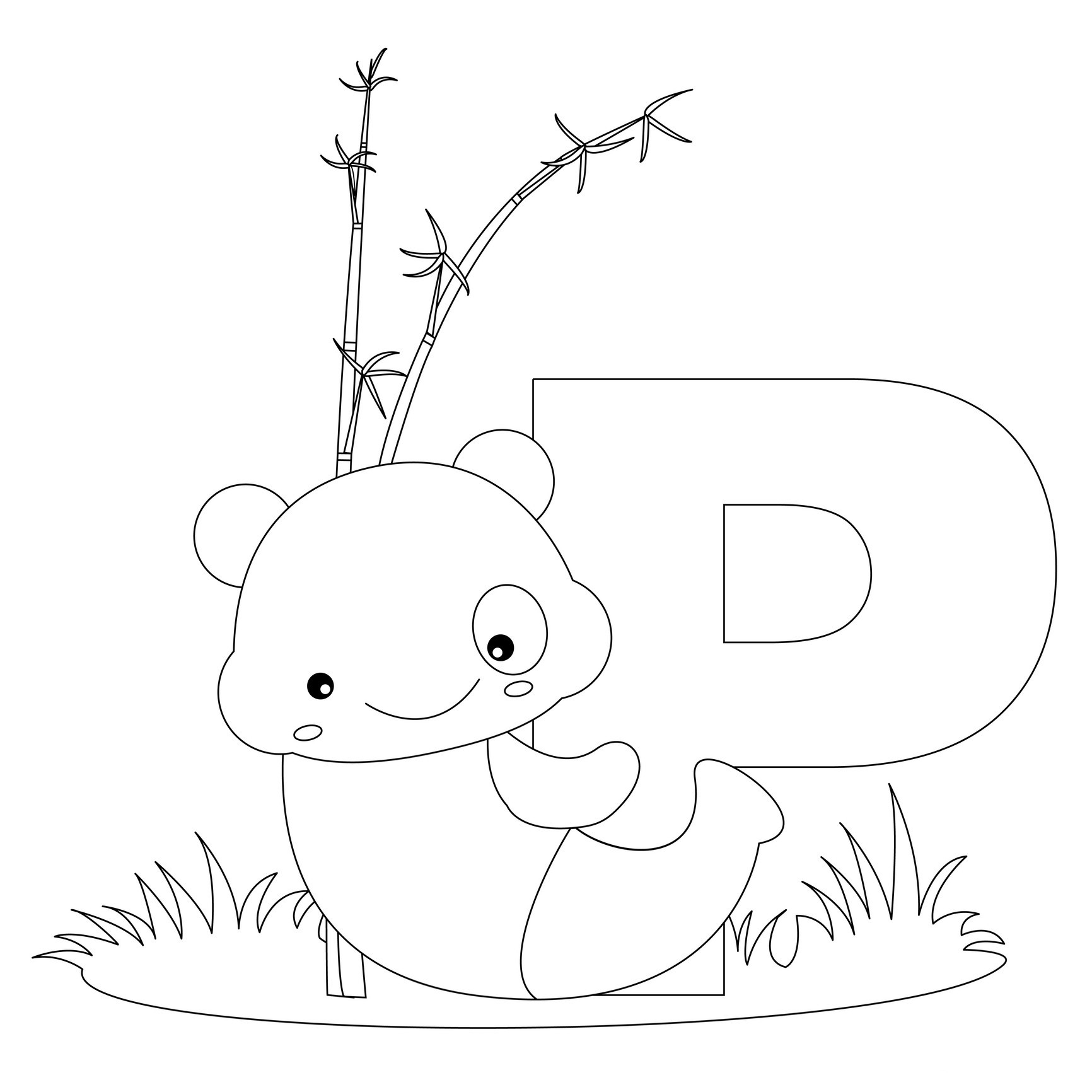 p coloring pages for kids - photo #4