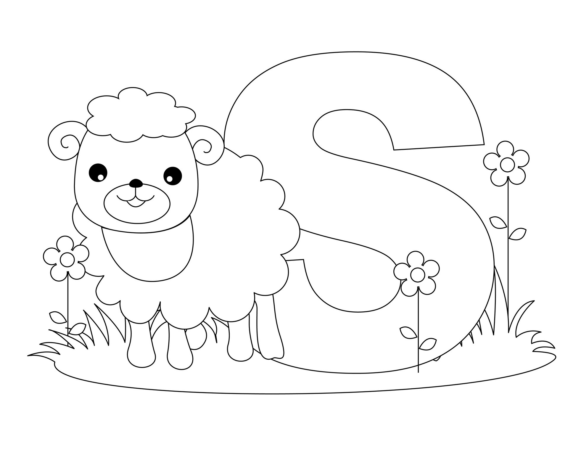 alphabet coloring pages letter s - Coloring Pages Of Alphabet