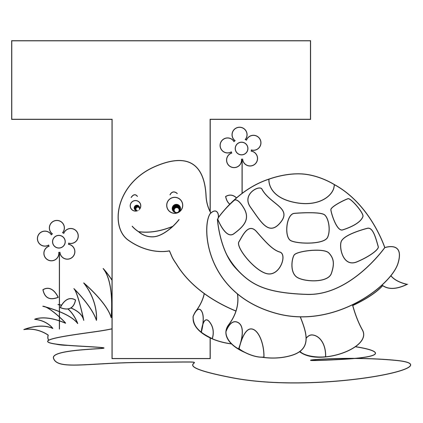 Coloring pages for alphabet - Alphabet Coloring Pages Letter T