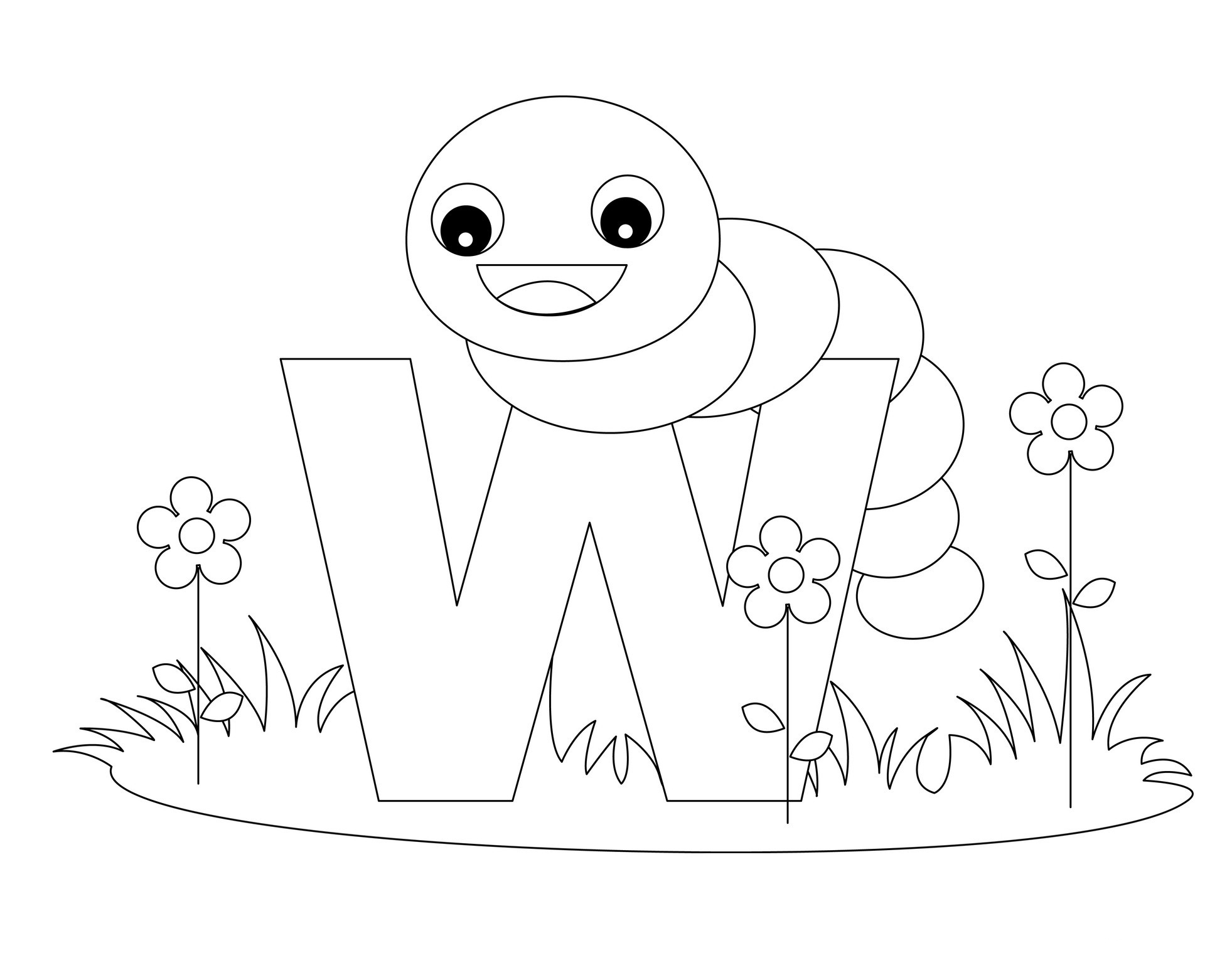 alphabet coloring pages for preschool - photo#30