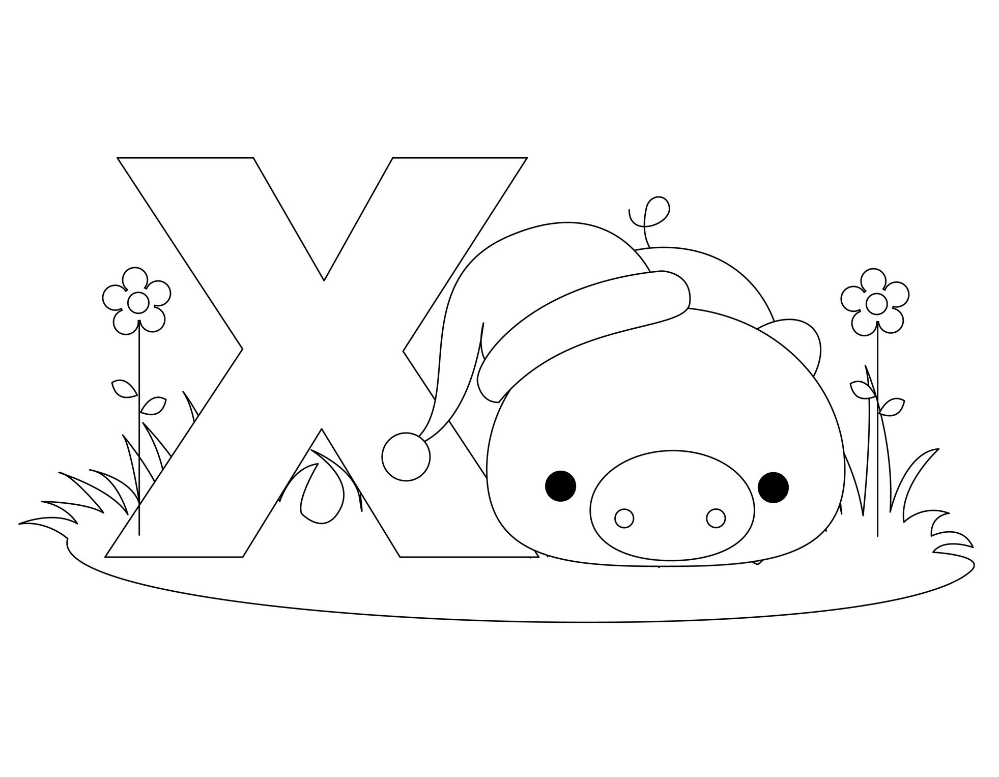 alphabet coloring pages for preschool - photo#15