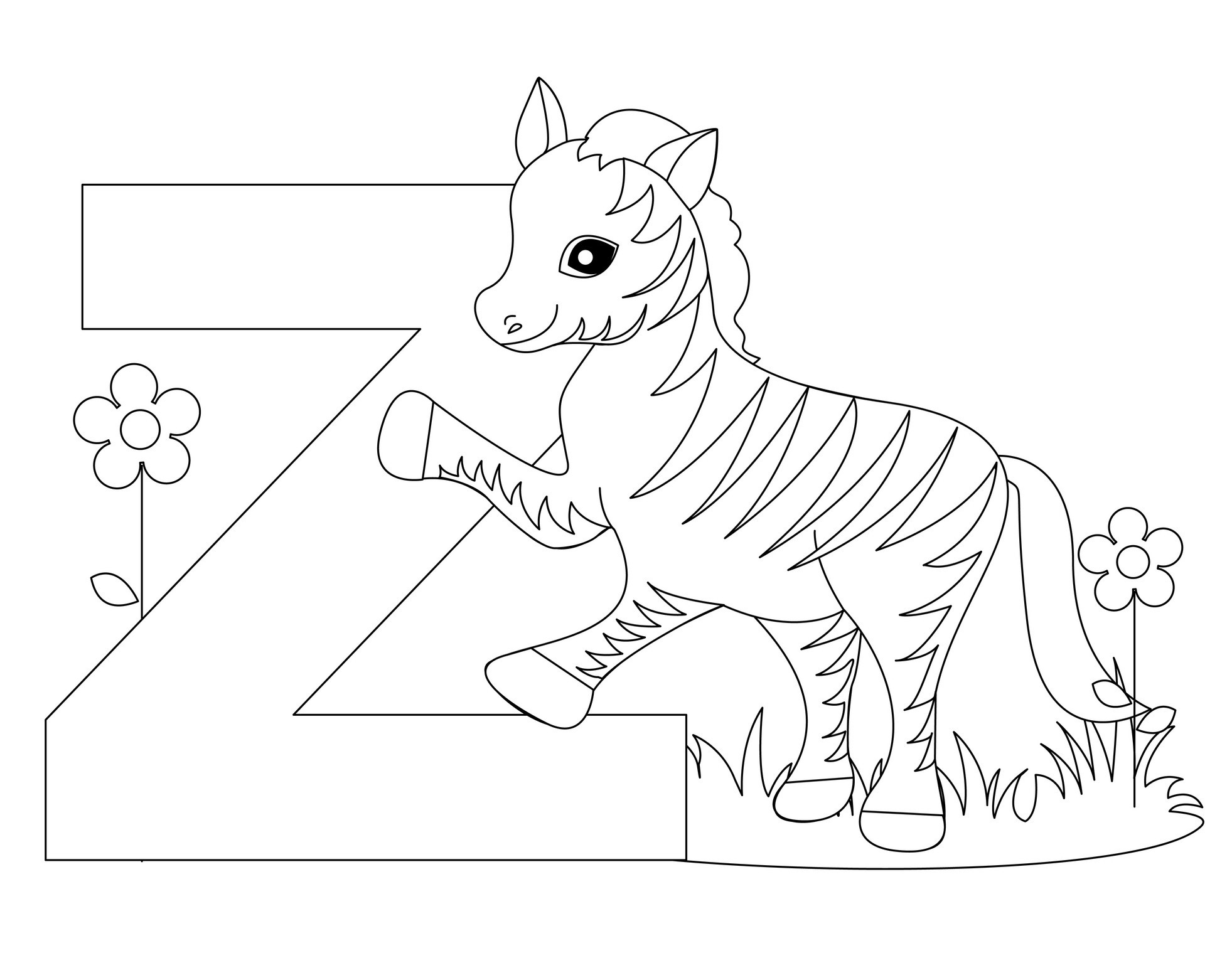 the letter z coloring pages - photo#10