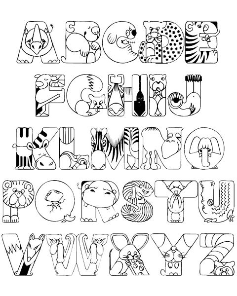 alphabet coloring pages - Letter Coloring Pages