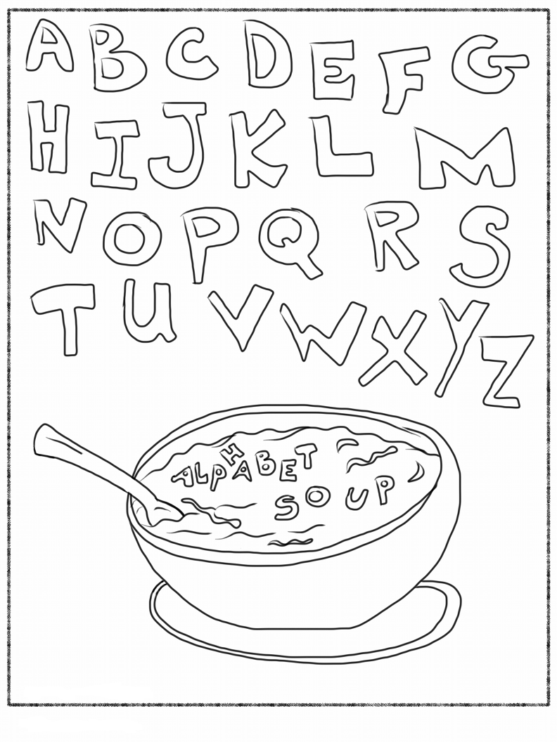 abc coloring pages sheets energy - photo#17