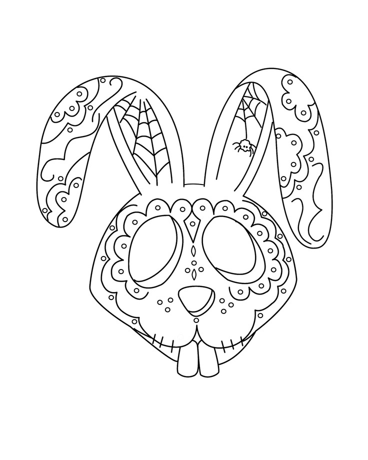 day of the dead art for coloring - Dia De Los Muertos Coloring Pages