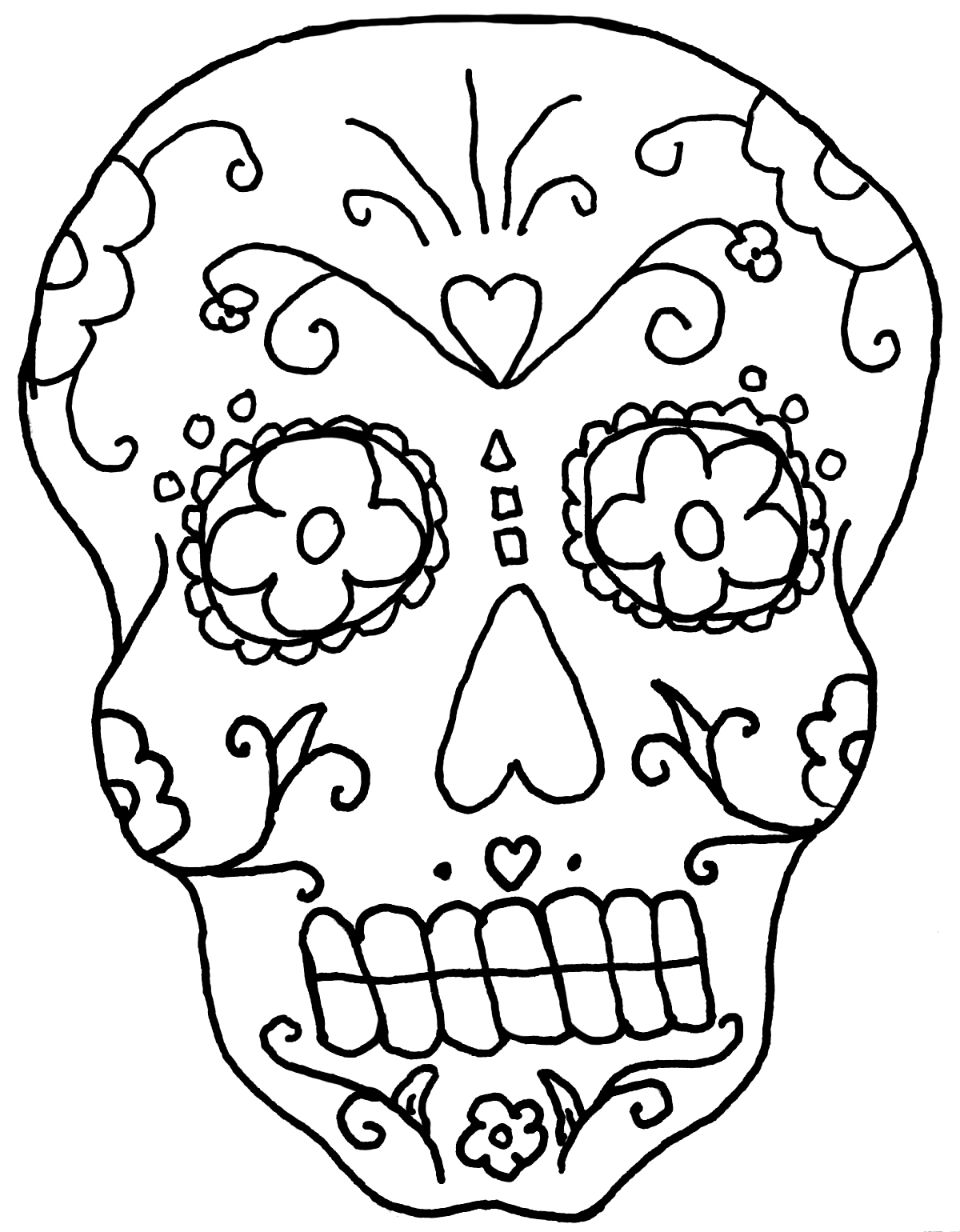 Superior Day Of The Dead Coloring Pages For Adults