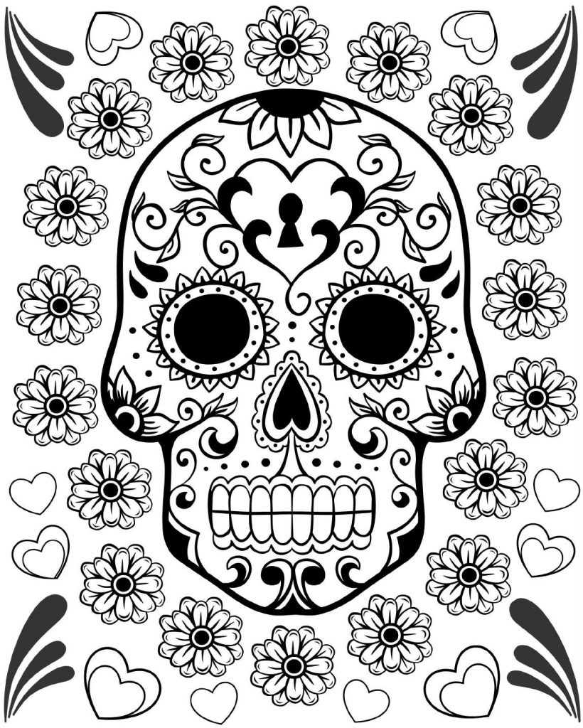 This is a picture of Intrepid Day of the Dead Printable