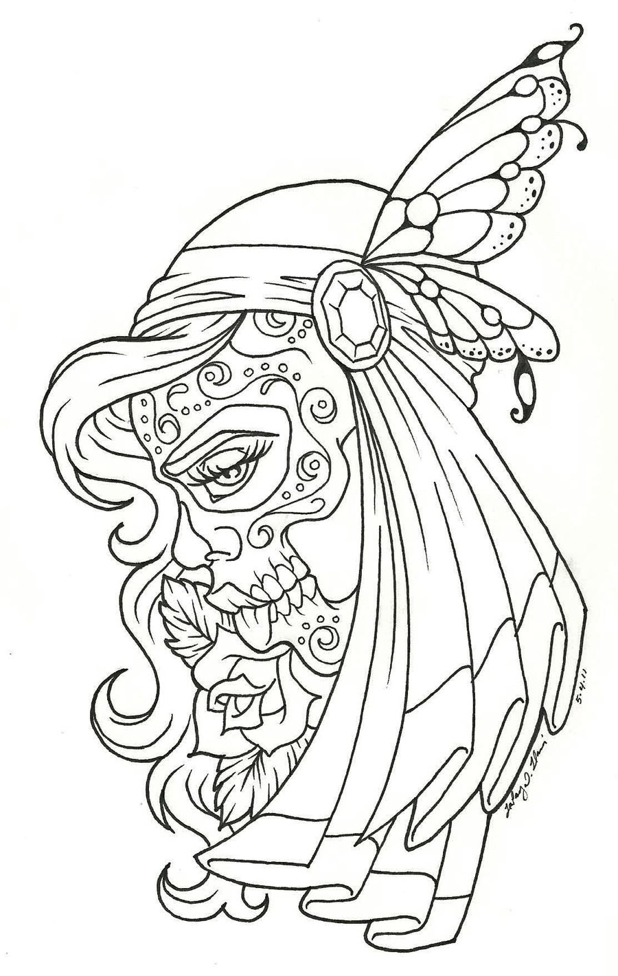 Coloring Pages Images : Free printable day of the dead coloring pages best
