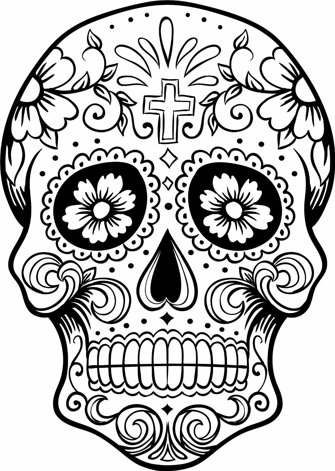 Uncategorized Day Of The Dead Coloring free printable day of the dead coloring pages best mexican skulls