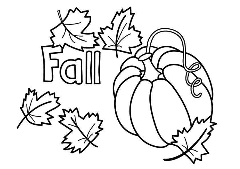 fall leaves coloring pages kindergarten - photo#6