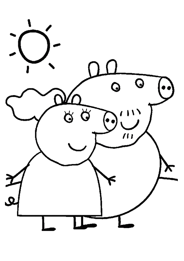 Peppa Pig Para Colorear Best Coloring Pages For Kids Peppa Colouring Pages