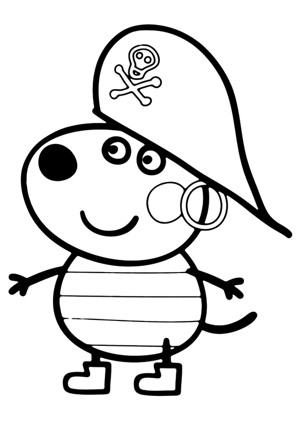 Peppa pig para colorear best coloring pages for kids for Peppa pig drawing templates