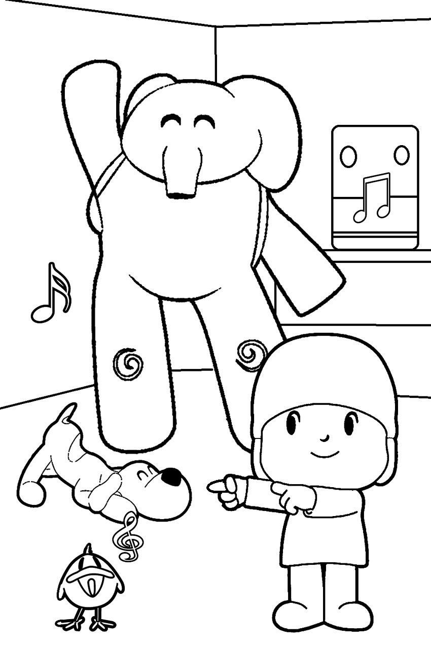 children online coloring pages | Pocoyo Páginas Para Colorear - Best Coloring Pages For Kids