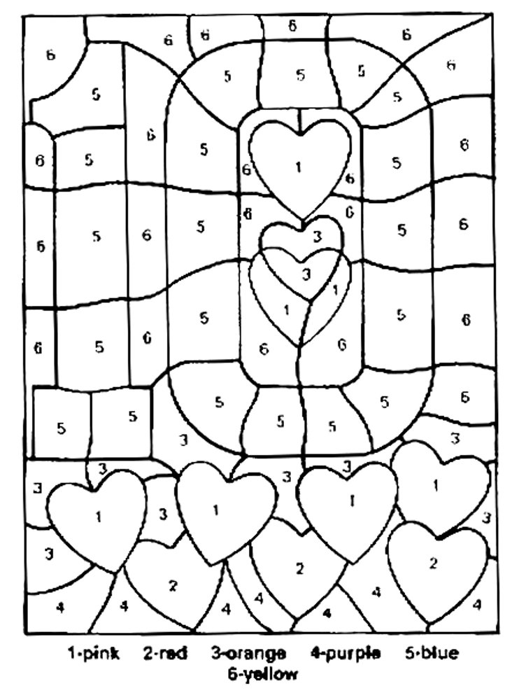 colour by numbers coloring pages - photo#6