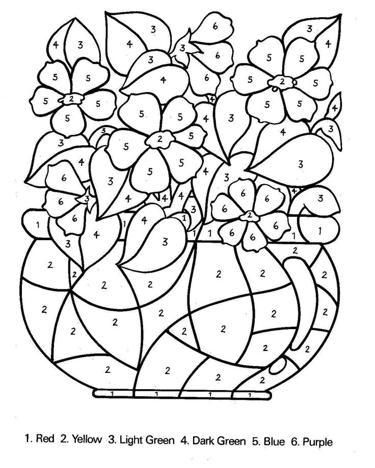 Free Printable Color By Number Coloring Pages Best Color By Number Pages
