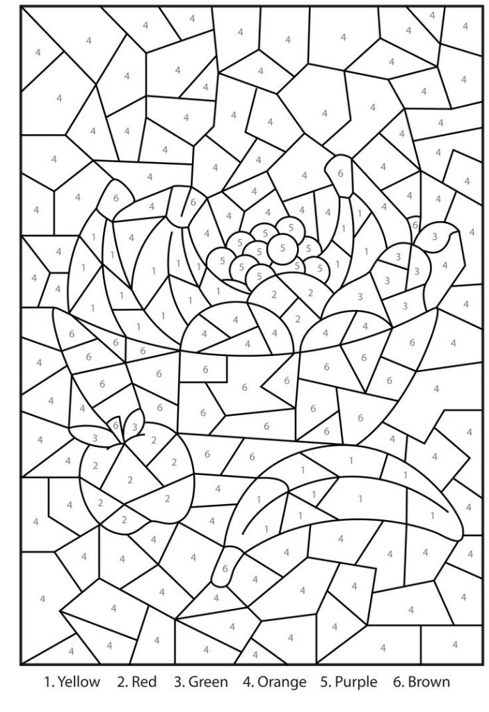Coloring Pages For Kids Printable : Free printable color by number coloring pages best