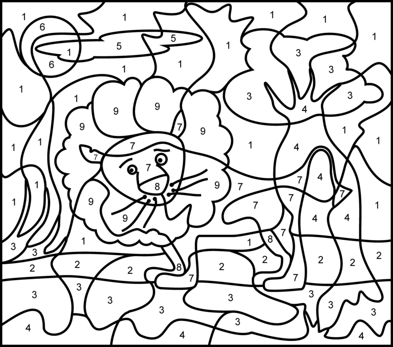 color by numbers coloring sheets - Coloring Pages With Numbers