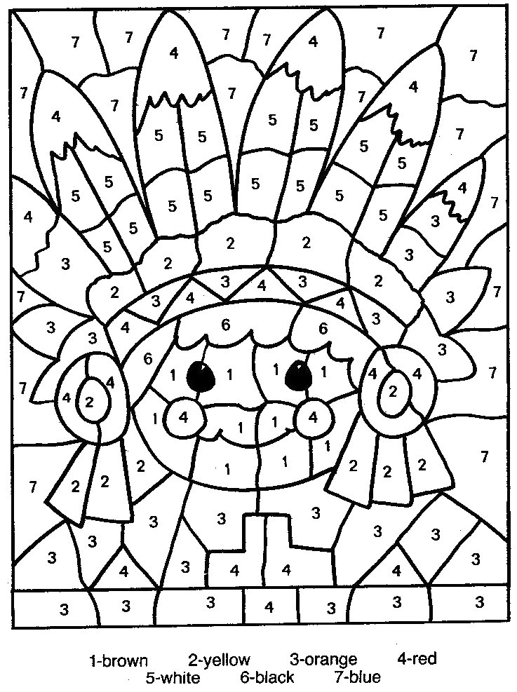 Numbered coloring sheets