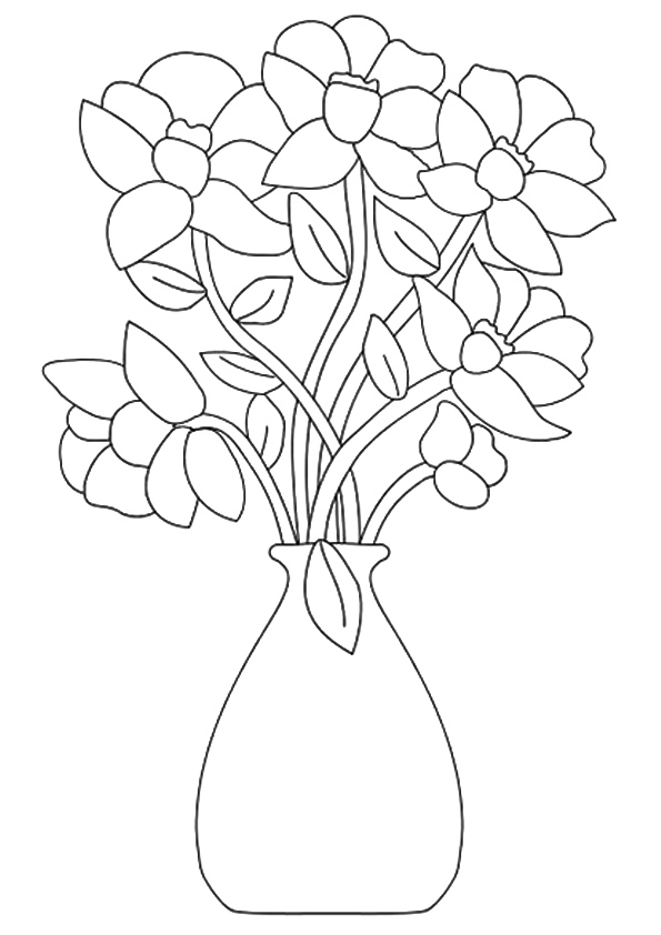 Coloring Flower Bouquet