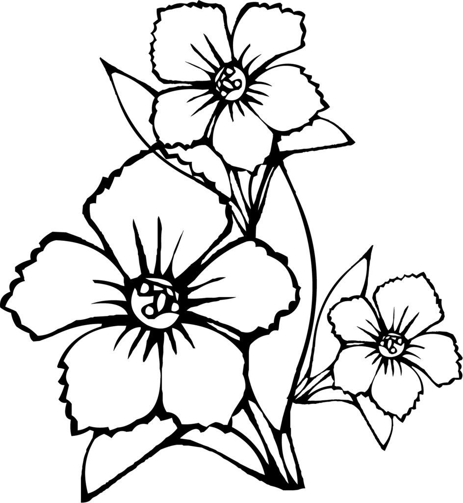 flower coloring pages kids - photo#2