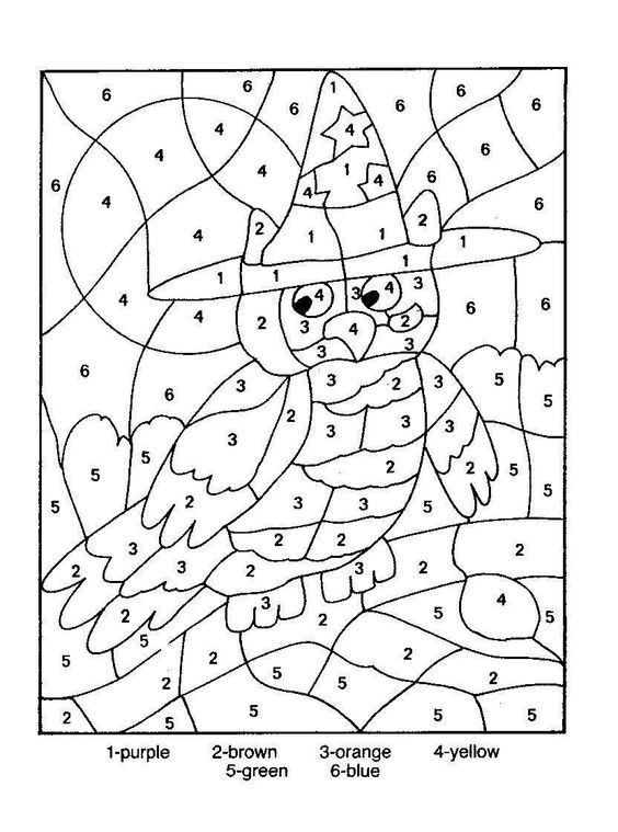 colour by numbers coloring pages - photo#8