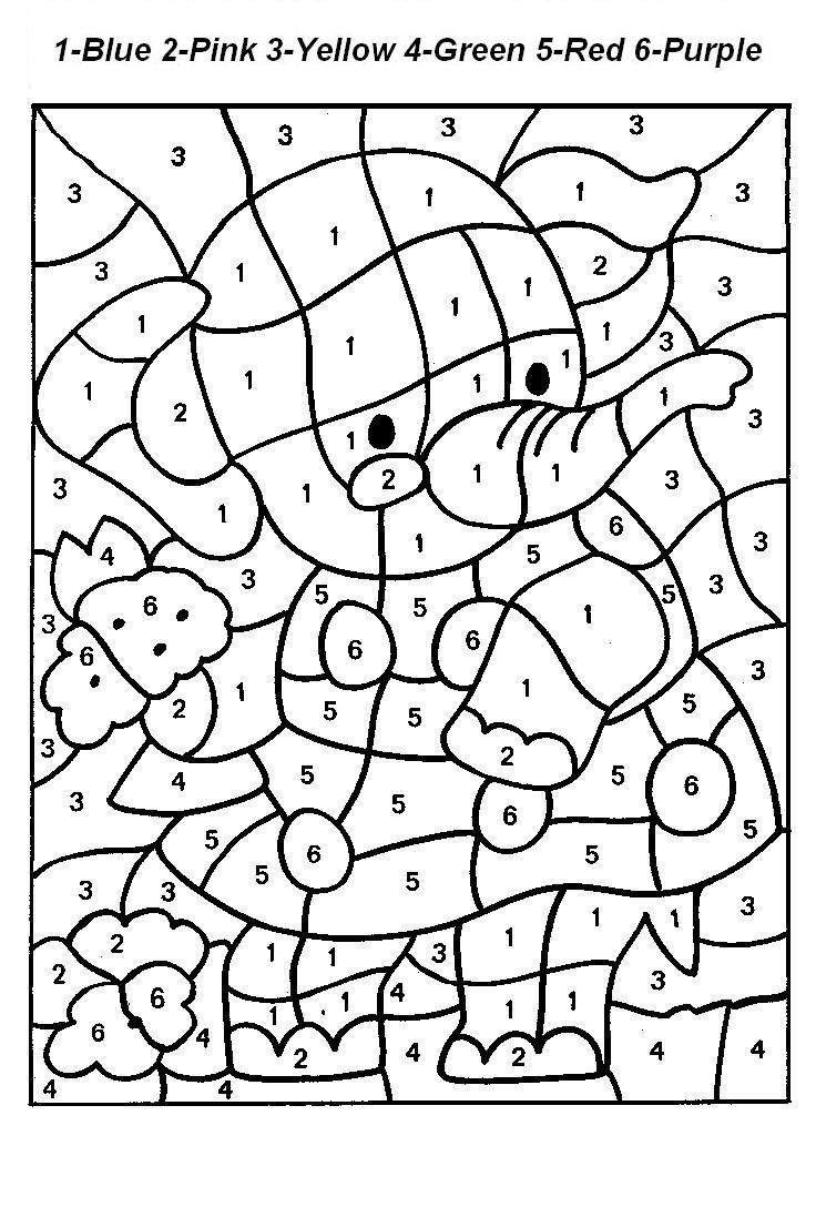 download color by numbers coloring pages colour by numbers - Color By Number Pages