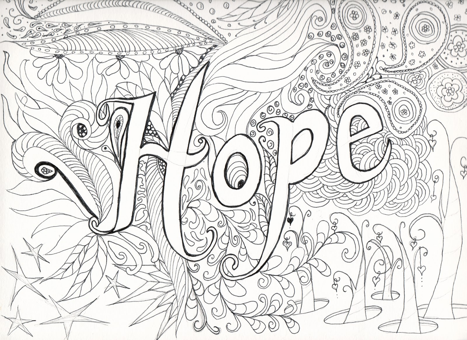 complex coloring pages - Hard Coloring Pages