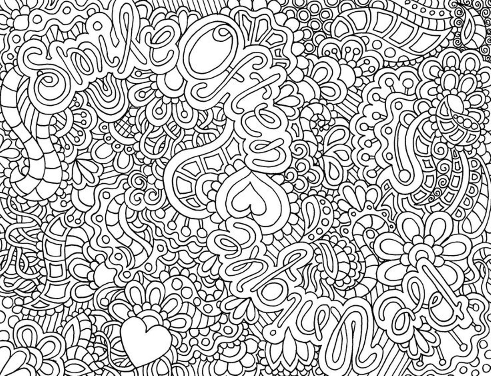 detailed coloring pages - Printable Difficult Coloring Pages