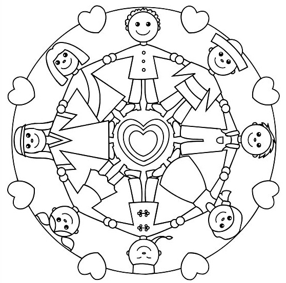 download mandals for kids to color - Simple Mandala Coloring Pages Kid