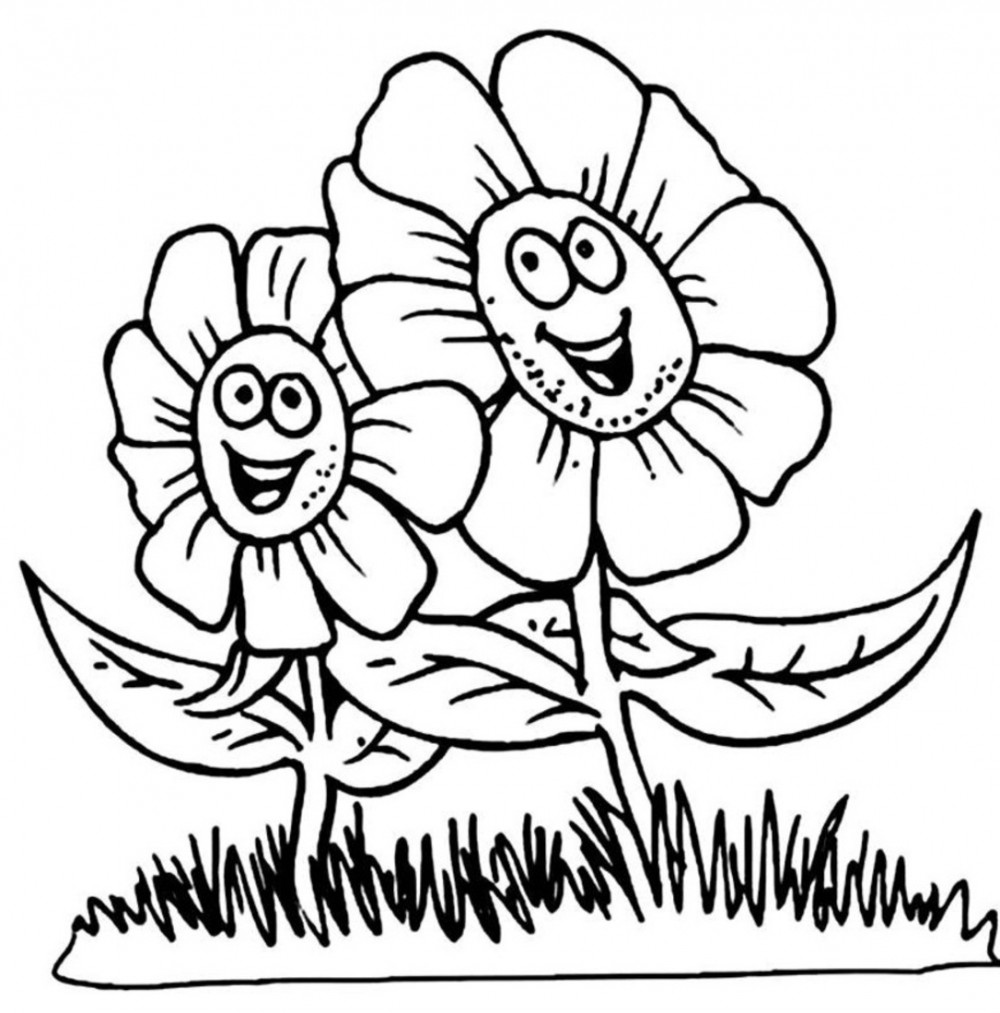 free printable flower coloring pages for kids best coloring - Colouring In Pictures For Kids