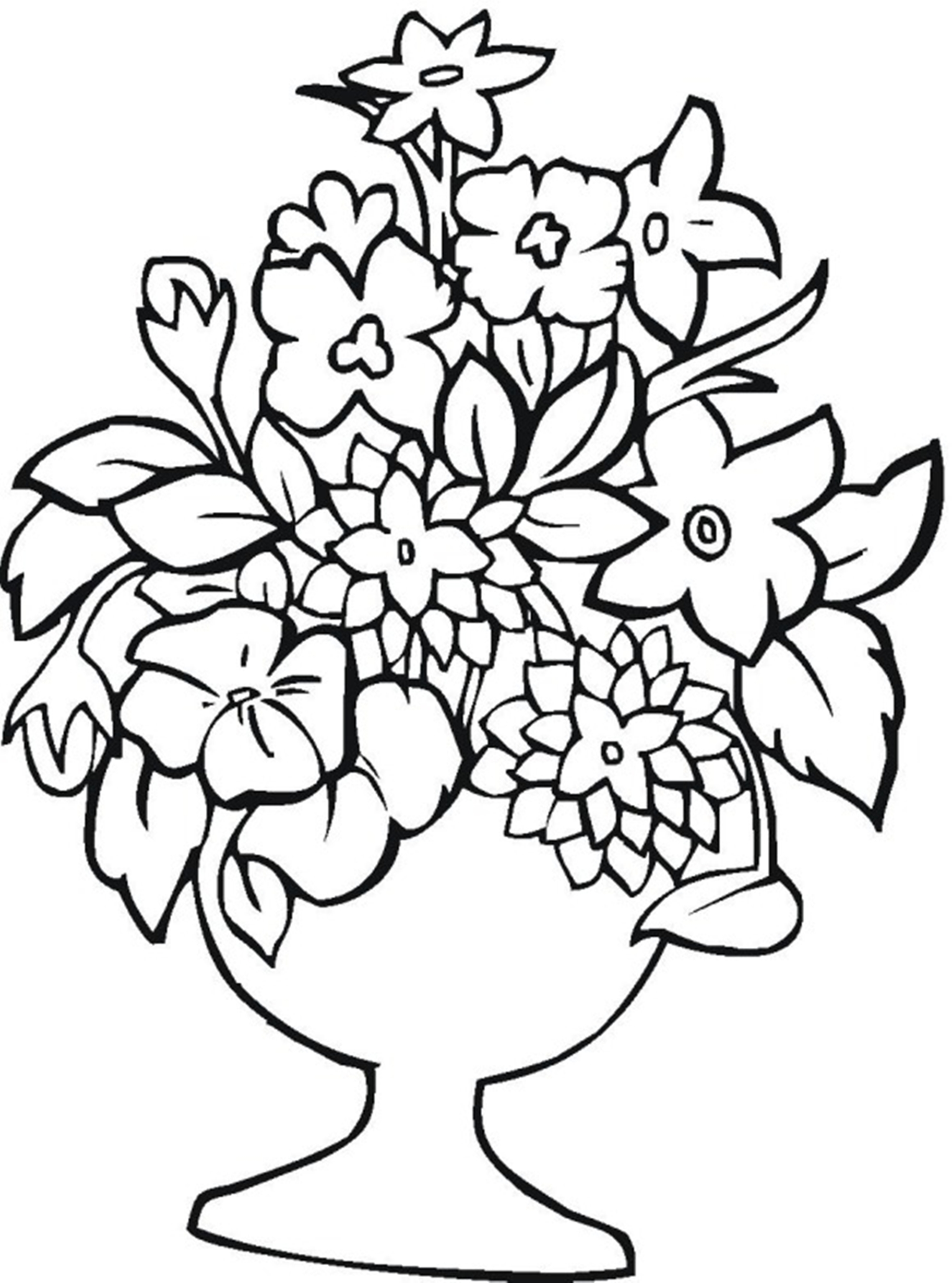blossoms coloring pages - photo#46