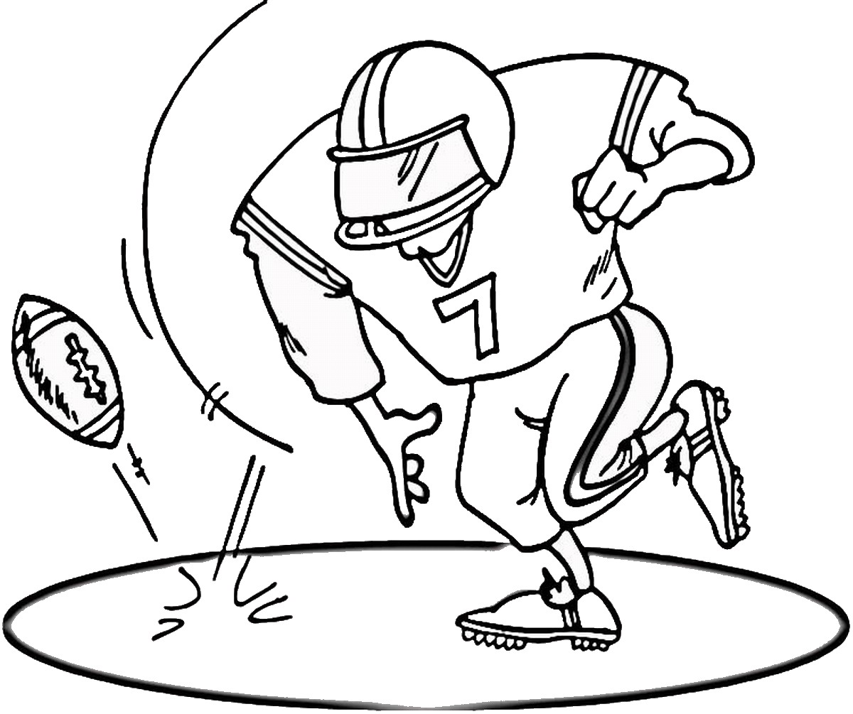 football coloring pages printable picture - Printable Sports Coloring Pages