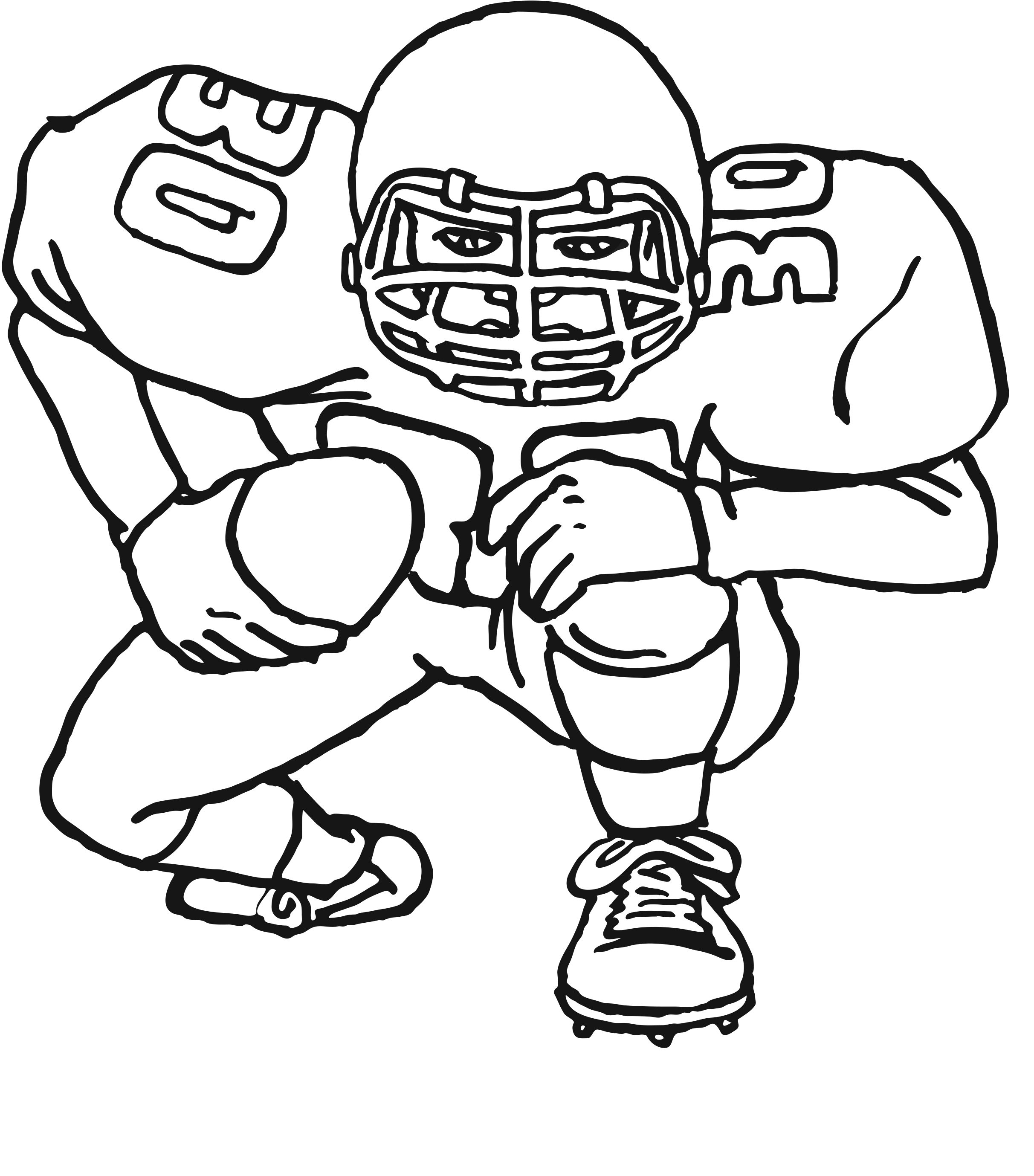 football color page free printable football coloring pages for kids best