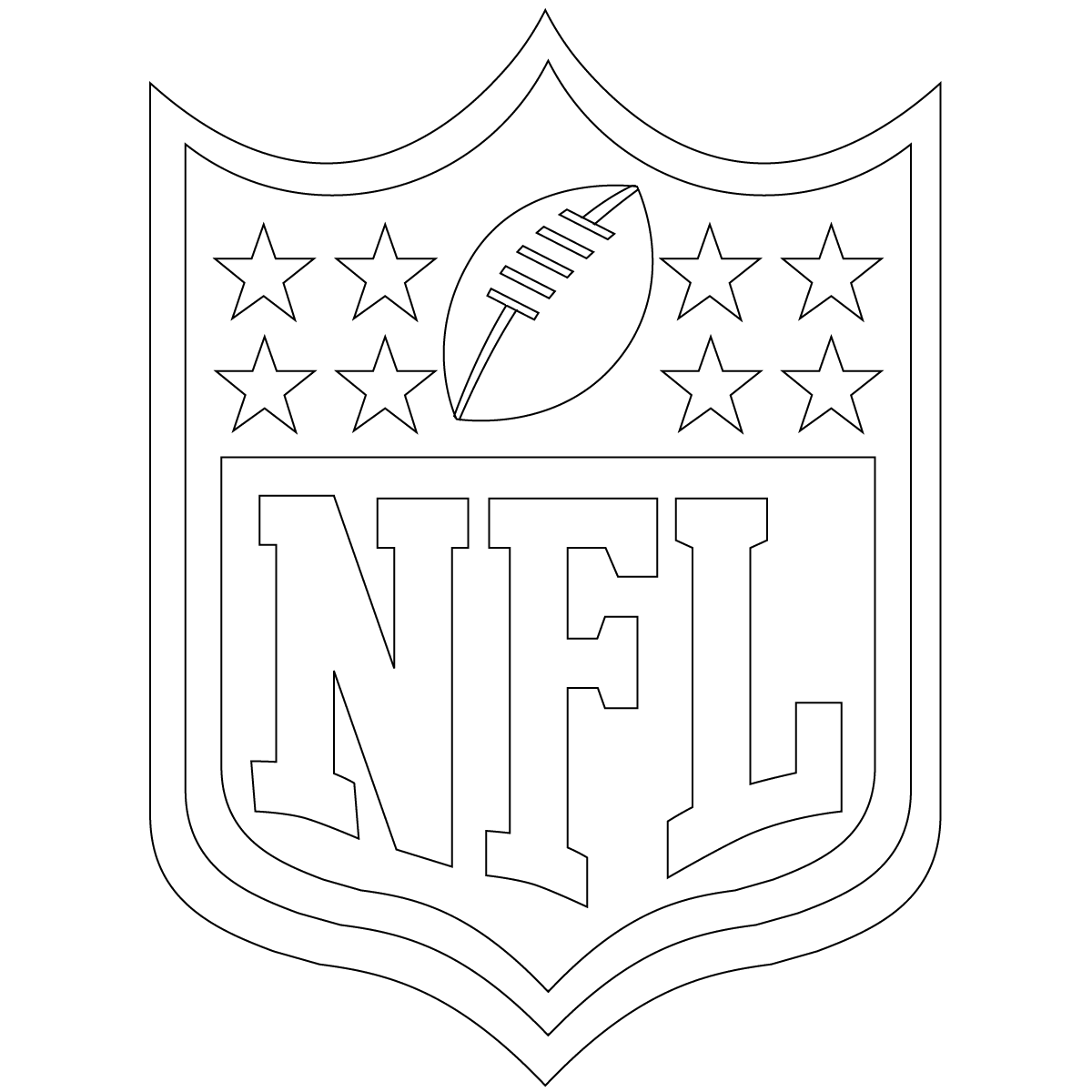 free football coloring nfl shield - Football Printable Coloring Pages