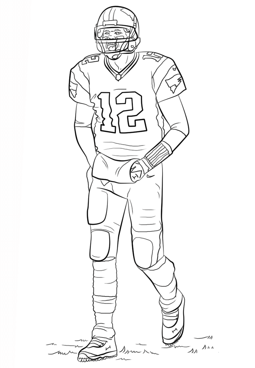 free football player coloring sheets - Sports Coloring Sheets To Print
