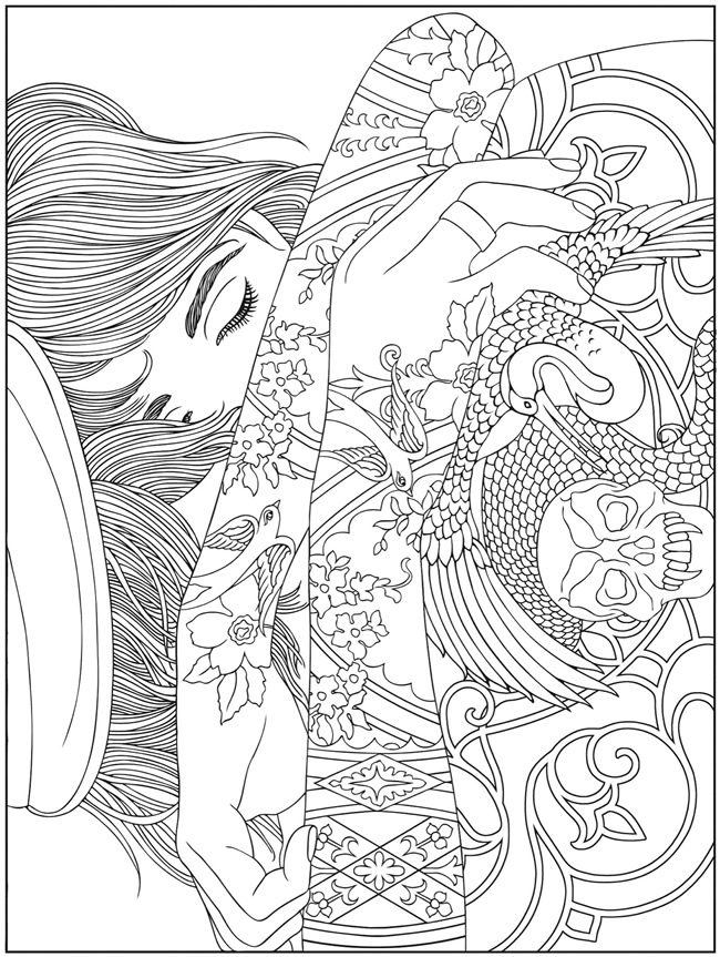 hard coloring pages for free - photo#3