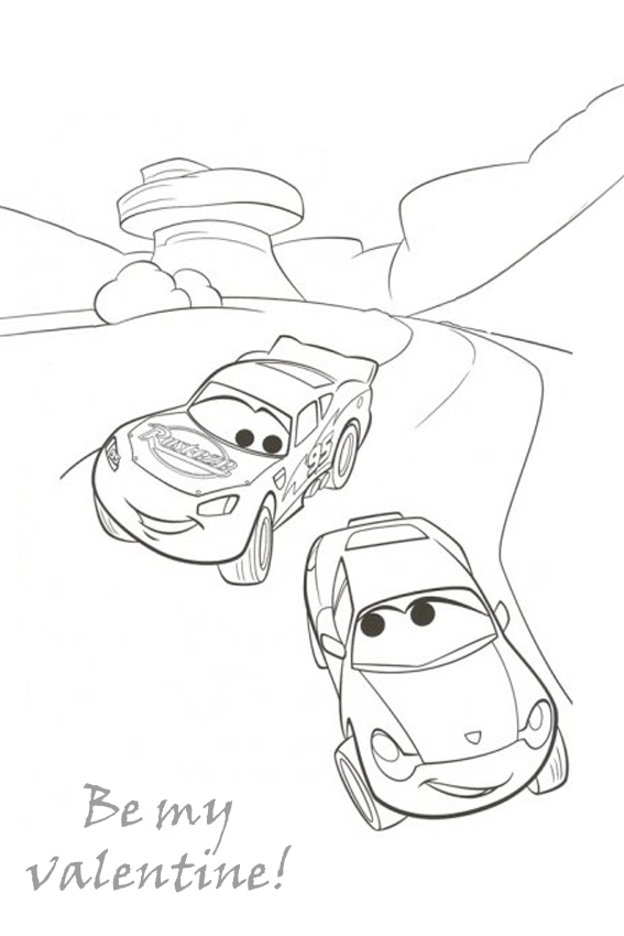 Free Lightning Mcqueen Pages To Color