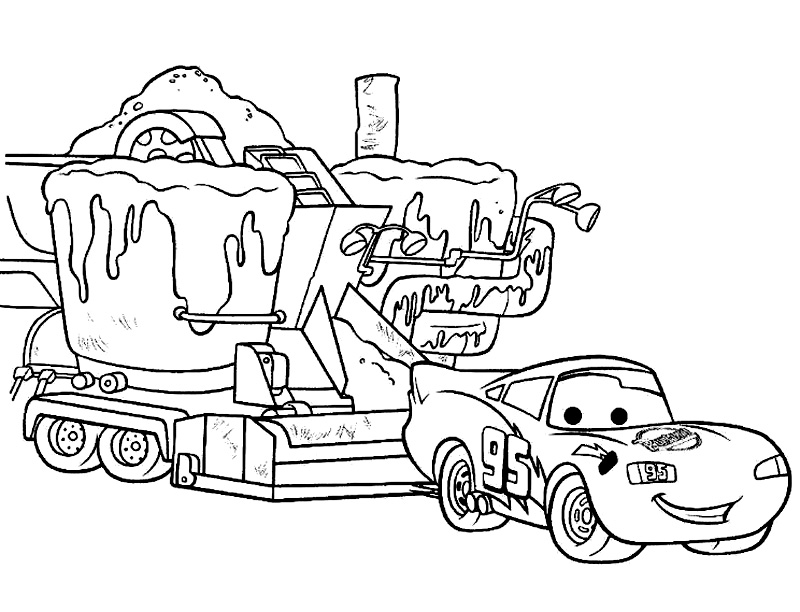 free printable lightning mcqueen coloring page - Lightning Mcqueen Coloring Pages