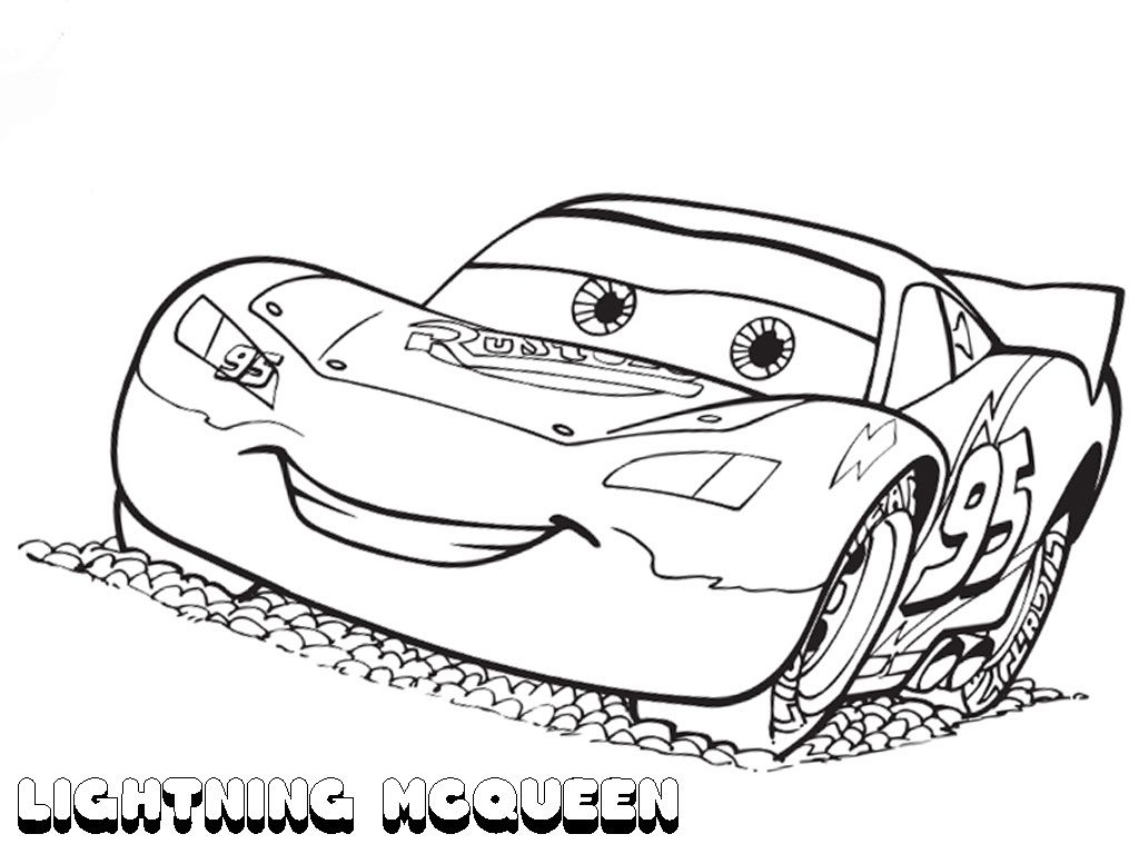 free printable lightning mcqueen coloring pages - Coloring Sheet For Kids